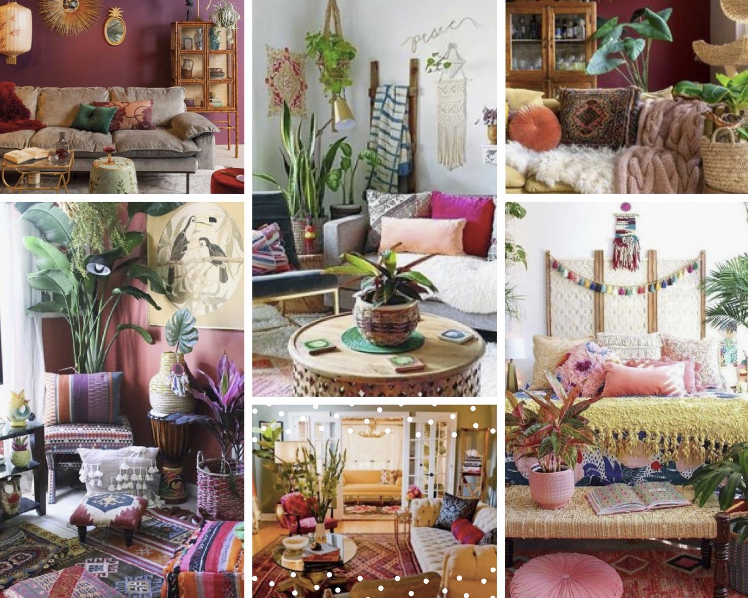 voorbeelden Bohemian interieur